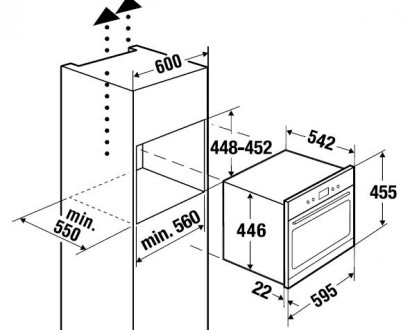 Например: вытяжки, компьютеры. независимый.  Духовой шкаф Kuppersbusch EMWK 1030.0 E. встраиваемый. новые метки...