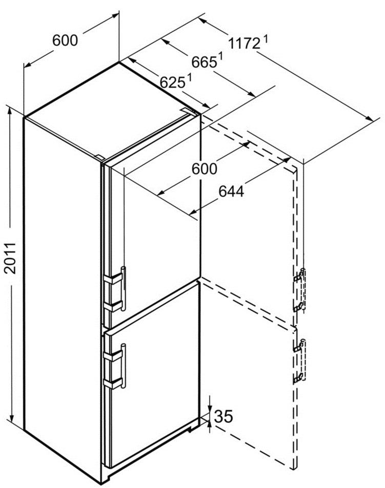 Каких размеров бывают холодильники