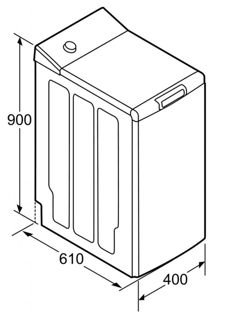 Размеры стиральная машина с вертикальной загрузкой